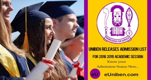 Check your uniben admission status